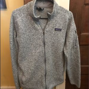 Gray Patagonia full zip fleece